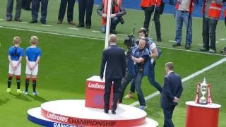 Rangers Chairman Dave King unfurls The Flag at Ibrox