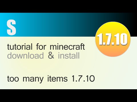 TOO MANY ITEMS MOD 1.7.10 minecraft - how to download and install [TMI] (with fo
