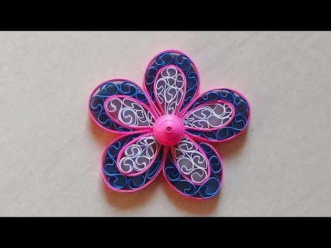 Paper Quilling Flower - For beginners - DIY Crafts Tutorials