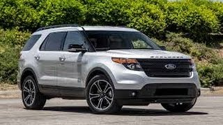 2015 Ford Explorer Start Up and Review 3.5 L Twin Turbo V6