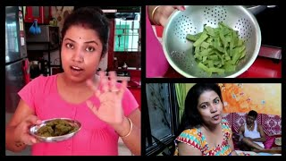 Bengali Vlog #ঝিঙের খোসা বাটা/আর কোথায় ঘুরতে যাবো planning