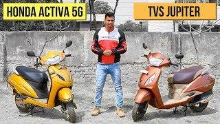 2018 Honda Activa 5G vs TVS Jupiter Comparison Review