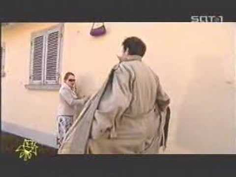 Naked Man Helps Woman Taking Her Bag... video