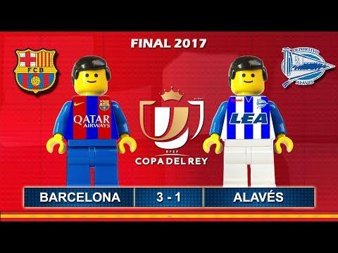 Copa del Rey Final 2017 • Barcelona vs Alavés • goal highlights Lego Football Film