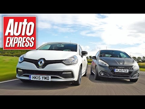 Renault Clio RS 220 Trophy vs Peugeot 208 GTi track battle