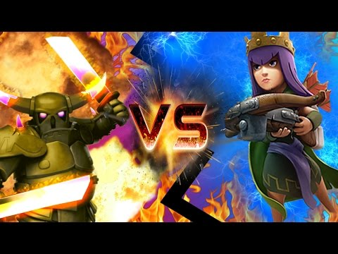 "CLASH OF CLANS - ARCHER QUEEN VS PEKKA! ""HOLY SHIT"" CLASH OF CLANS FUN..."