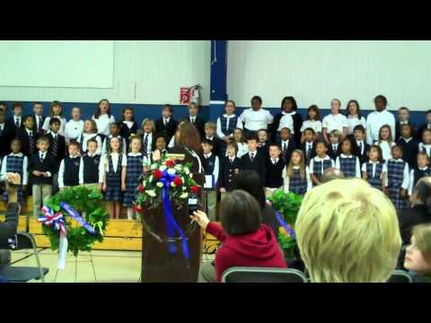 "The Calverton School's LS Choir Sings ""Armed Forces Medley"""