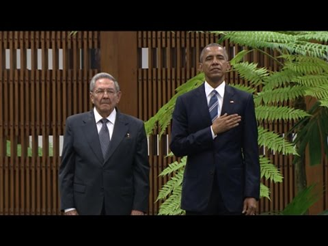President Obama's Meets Cuban President Raul Castro in Havana