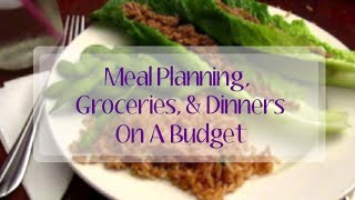 Meal Planning, Groceries, and Dinners On A Budget!