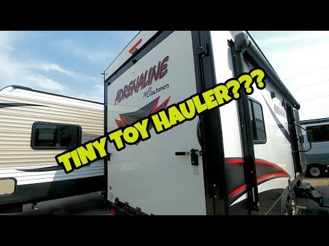Travel Trailer Toy Hauler? One cool little RV!