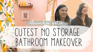 CUTEST NO STORAGE RENTAL BATHROOM MAKEOVER | STUDIO FIX S1 E2