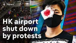 Protesters bring Hong Kong airport to standstill