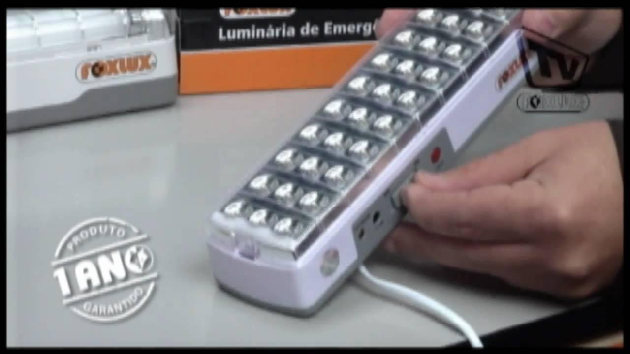 Conheça e aprenda mais sobre as Luminarias de Emerg u00eancia Foxlux YouTube
