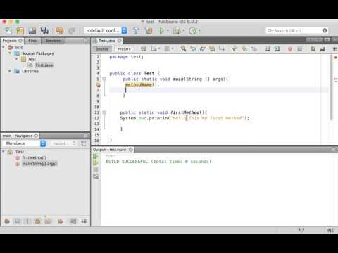 Java programming tutorial methods Arabic #8 |برمجة جافا