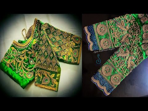 Green Gorgeous Sleeve Blouse Designs 2018