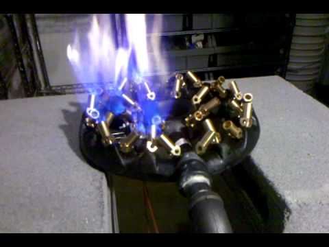 32 jet Propane Burner controlled by Honeywell VR8300A4516 ...