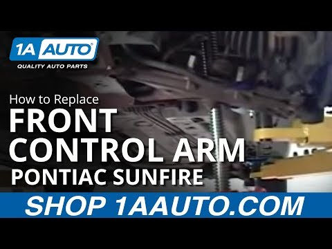 How To Install Replace Front Control Arm Pontiac Sunfire Chevy Cavalier 1AAu