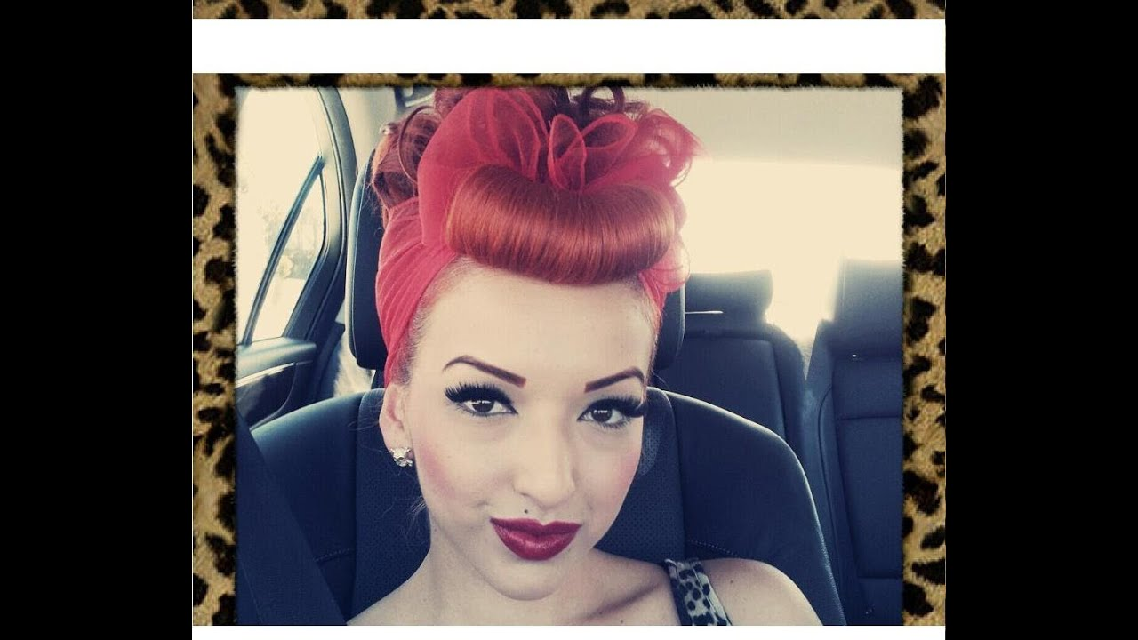Pin up hairstyles with bandana