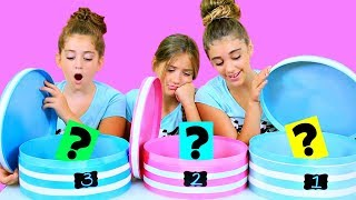 Mystery Box 3 Colors of Glue Slime Challenge!