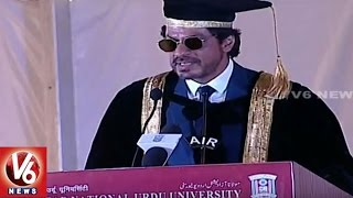 Shah Rukh Khan Speech At Maulana Azad National Urdu University Convocation Ceremony
