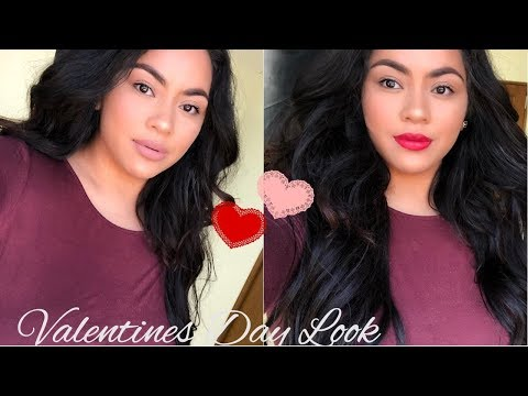 SIMPLE GLOWY VALENTINES DAY LOOK W/ TWO LIP OPTIONS   COLLAB W/ ESE MILAN