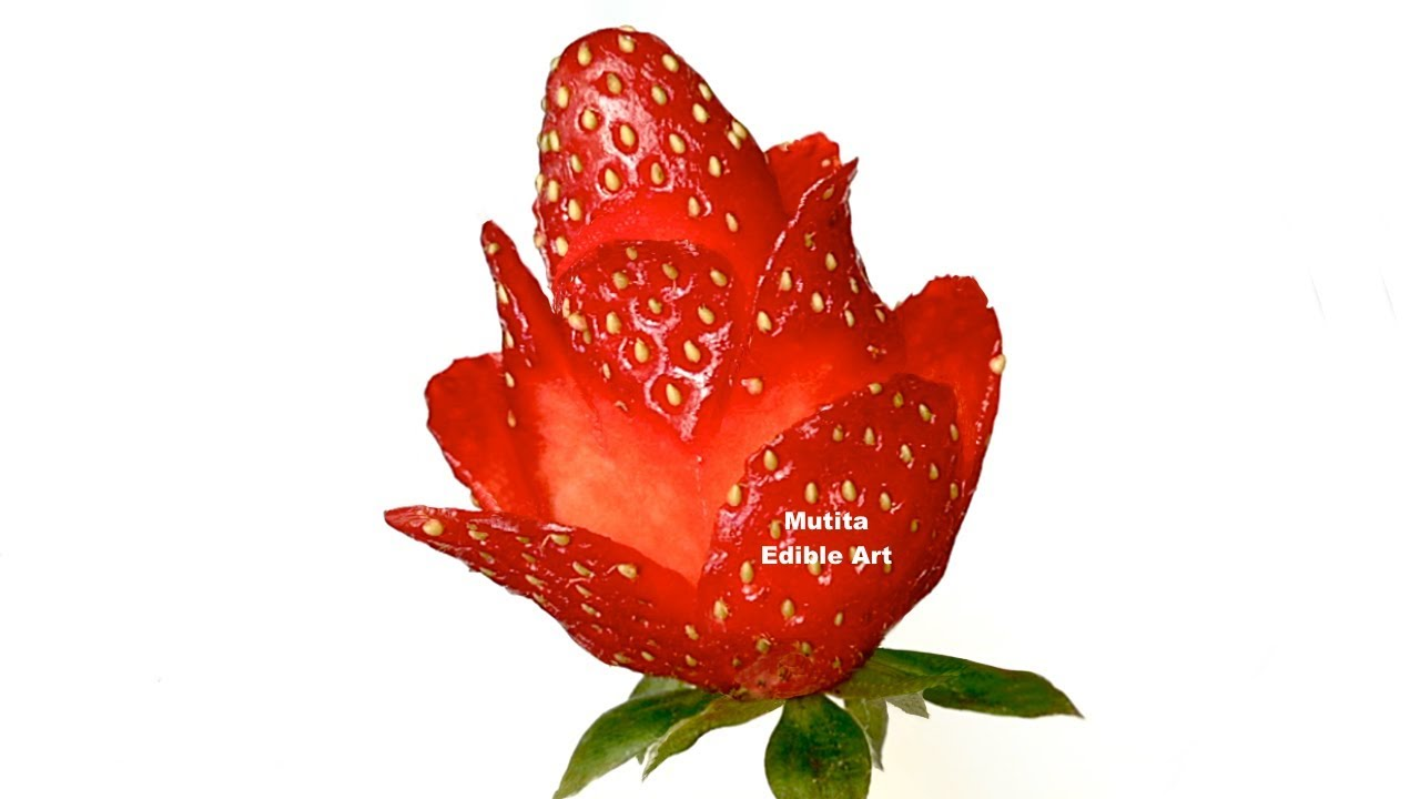 Strawberry Red Rose Is Easy And Simple Flower To Make - Lesson 49 By ...