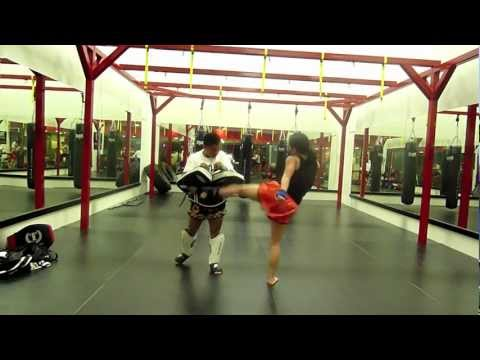Muay Thai Female speed kicking drills (failed lol) Image 1