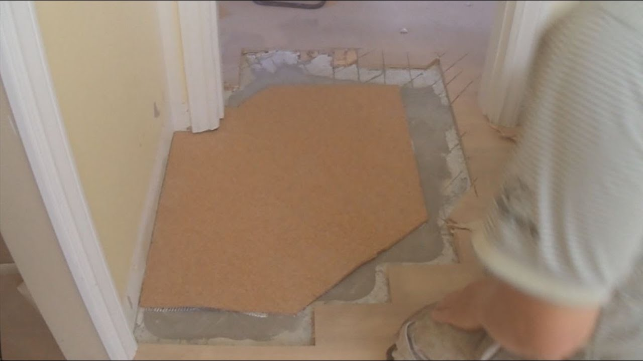 Install Bathroom Floor Underlayment : How to level a floor with cork underlayment part of