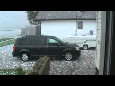 Huge Hail the size of Baseballs - Cardston, Alberta, July 26, 2012