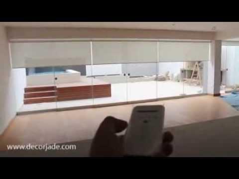 3 cortinas roller motorizadas cortinas electricas - Precios de cortinas para dormitorios ...