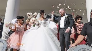 The groom meets his bride Khadijeh Mehajer  in the most lavish way! LEBANESE WEDDING