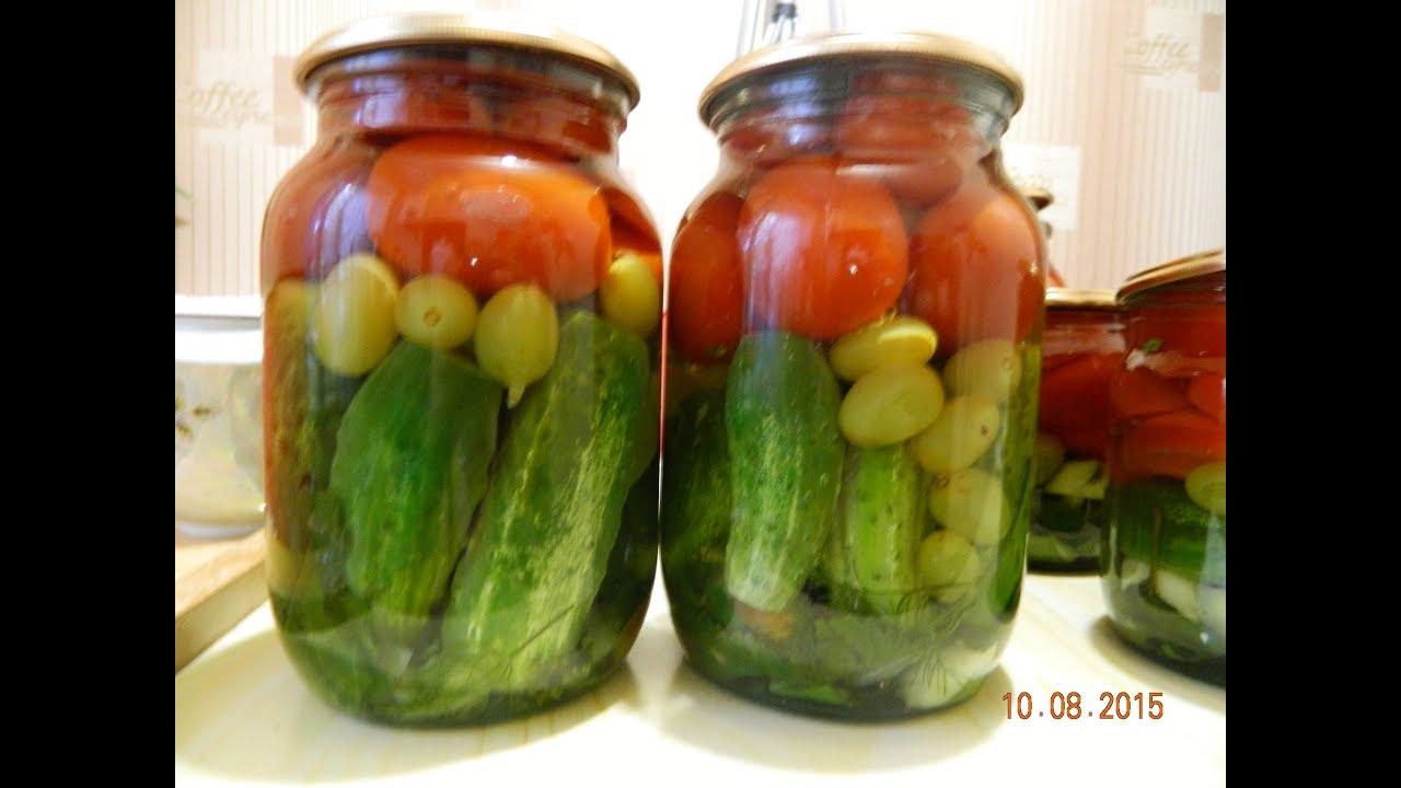 Простой консервированный салат из помидоров и 70