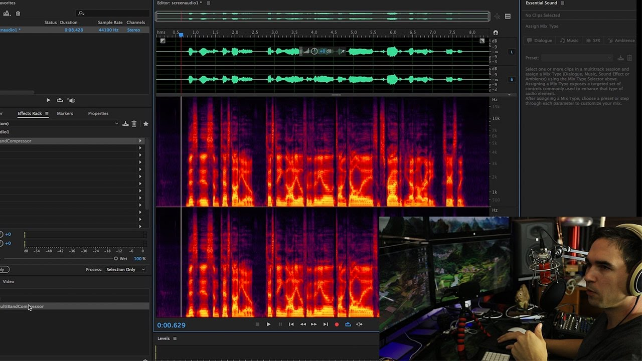 Audio effects are even more flexible in audition for mac with the new modeless effects rack