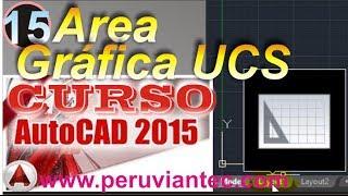 CURSO AUTOCAD 2015 - 15 Conociendo el Area Gráfica, Símbolo del UCS y Pestañas de Presentación