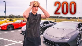 GOING 200 MPH IN A LAMBORGHINI!!