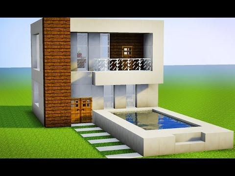 Minecraft - Como fazer sua Primeira Casa Moderna Pequena