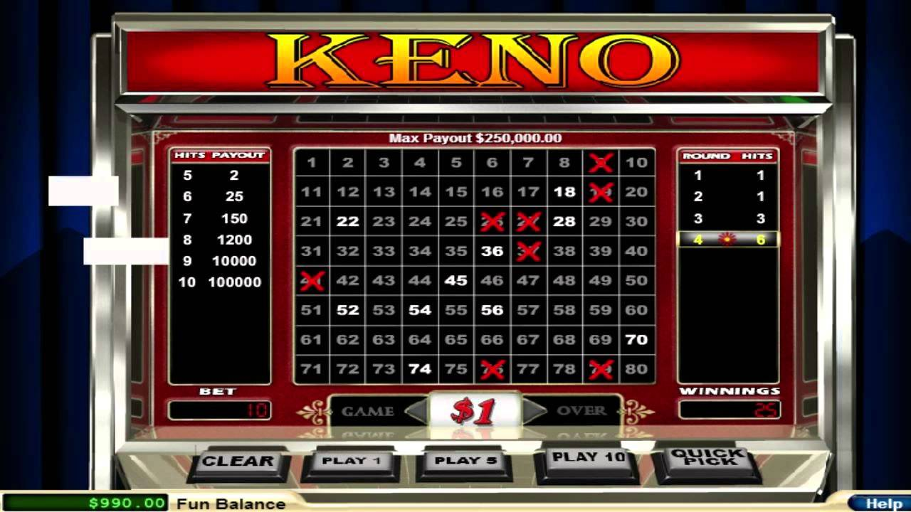 slot machine free gratis keno
