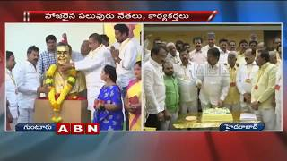 Minister Nara Lokesh Birthday celebrations in Guntur TDP office
