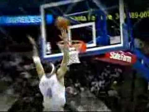Kenyon Martin putback dunk over Joe Smith Video