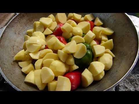 Фаршированные перцы в казане на мангале/Супер вкусное блюдо/Сытая семья
