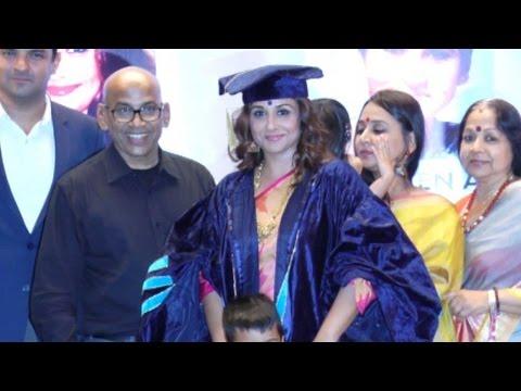 Vidya Balan Receives Doctorate Honour From Rai University