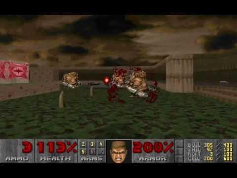 DOOM II- Speed run- ultra-violent 24:40 with no damage - Rambo...