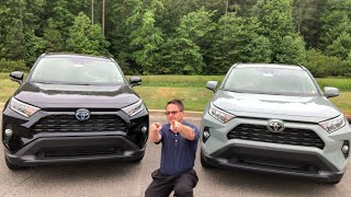 2019 RAV4 XLE Hybrid vs XLE AWD - How to Choose!