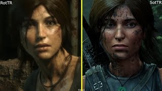Rise of the Tomb Raider vs Shadow of the Tomb Raider Character Model Comparison