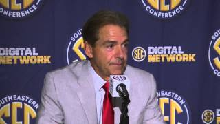 2013 SEC Football Media Days - Nick Saban - Alabama Head Coach