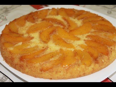 Пирог-перевертыш с персиками. Персиковый пирог.(Upside-Down Peach Cake)