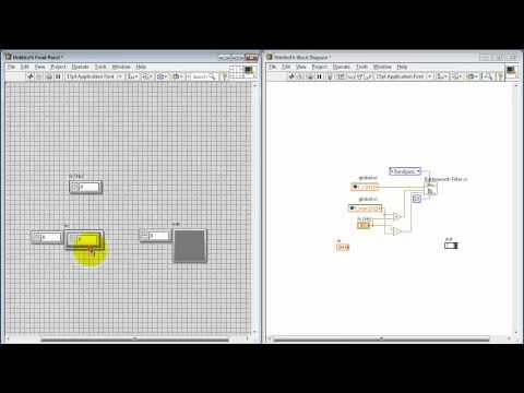 NI LabVIEW: Bandpass filter subVI