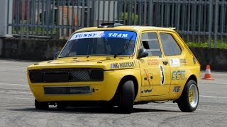 130 HP FIAT 127 slalom racing & on board