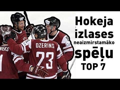 Latvijas hokeja izlases neaizmirstamāko spēļu TOP 7