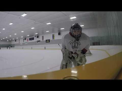 10th hockey game recorded/ Gopro hockey goalie